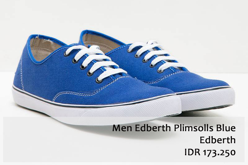 Men Edberth Plimsolls Blue