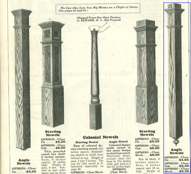 Sears newels from 1930 catalog