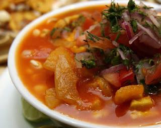 Ceviche de Chochos con Cuero