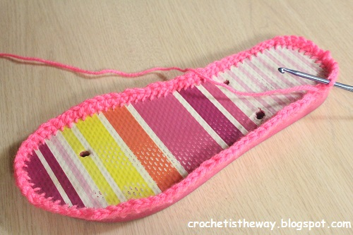 crochet, fail, flip flops, sandals, upcycle, recycle, shoes, slippers