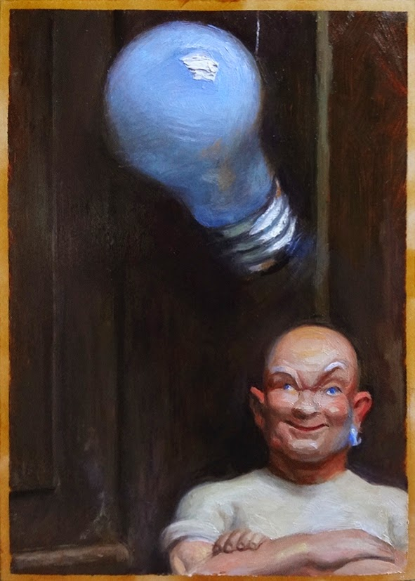 Clean Thoughts, 7x5, Oil, © copyright Richard Luschek 2014