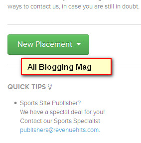 How to Add RevenueHits Popups/Under, Banner Ads Code to Blogger