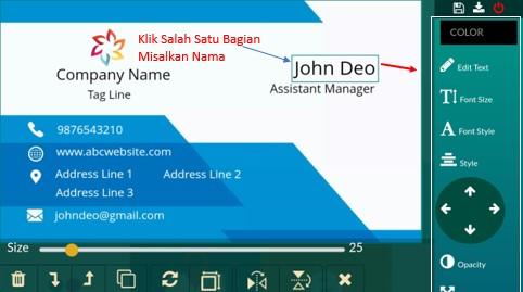 Cara Membuat Kartu Nama Keren dan Elegan Menggunakan HP Android