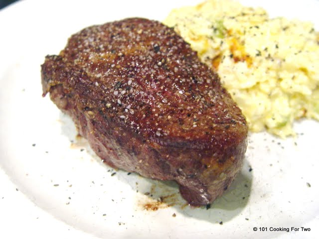 Pan Seared Oven Roasted Filet Mignon 101 Cooking For Two