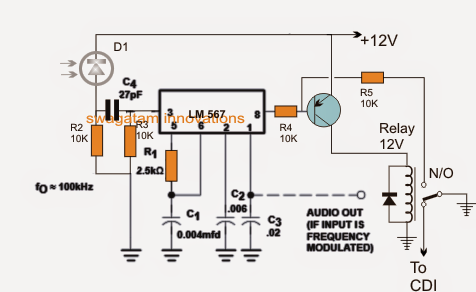 Infrared Remote Control Security Lock Circuit for