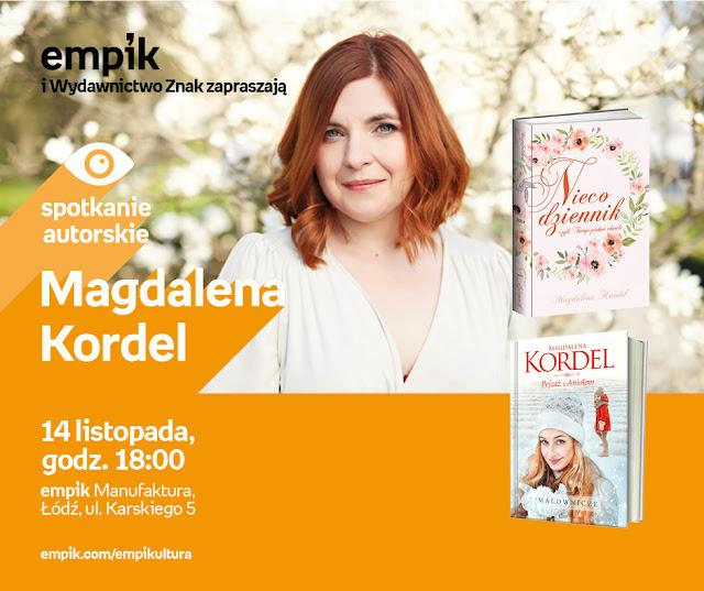 Zapraszam na spotkanie z Magdaleną Kordel