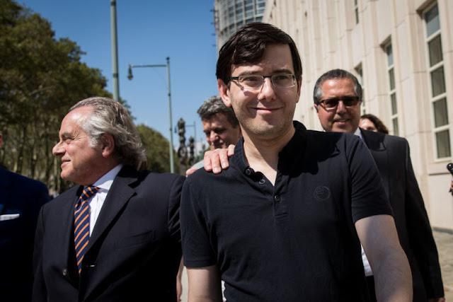 Martin Shkreli foi sentenciado hoje a sete anos de prisão depois de ter sido considerado culpado de fraude de títulos e valores mobiliários.
