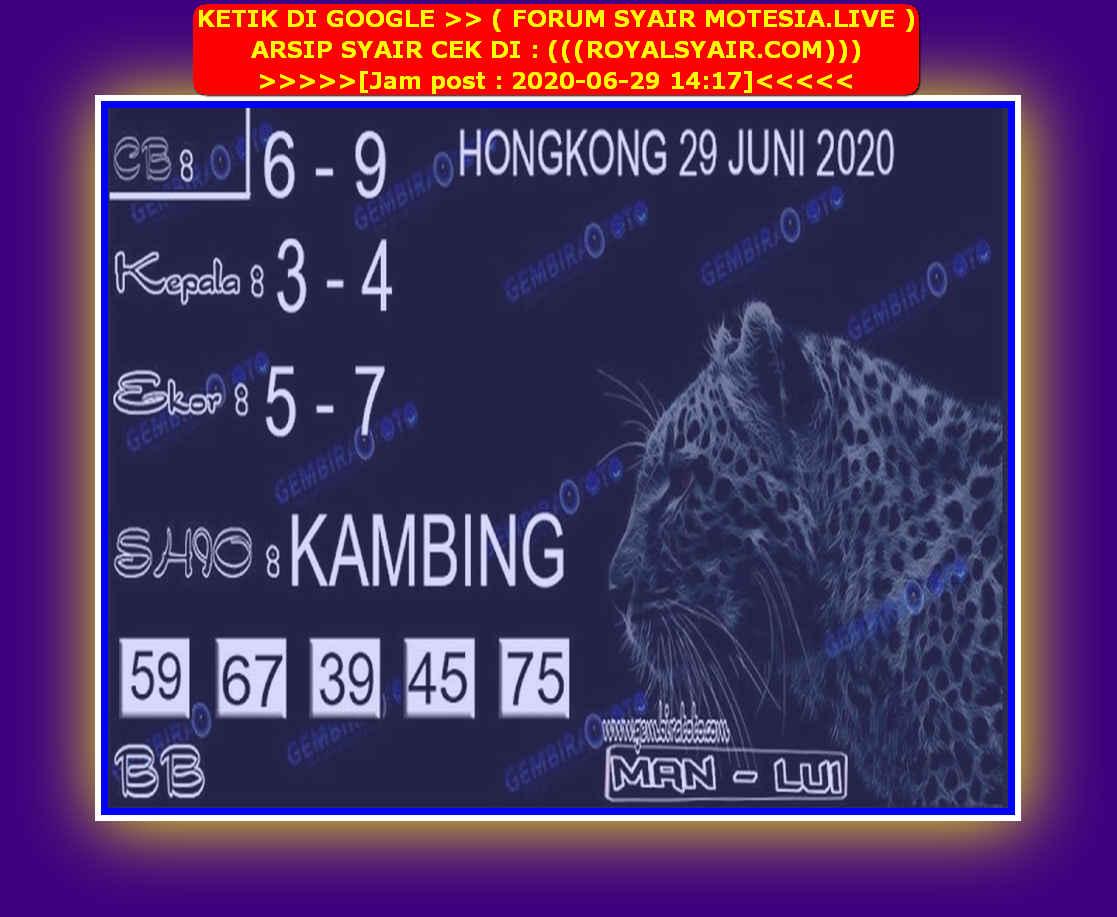 Kode syair Hongkong Senin 29 Juni 2020 180