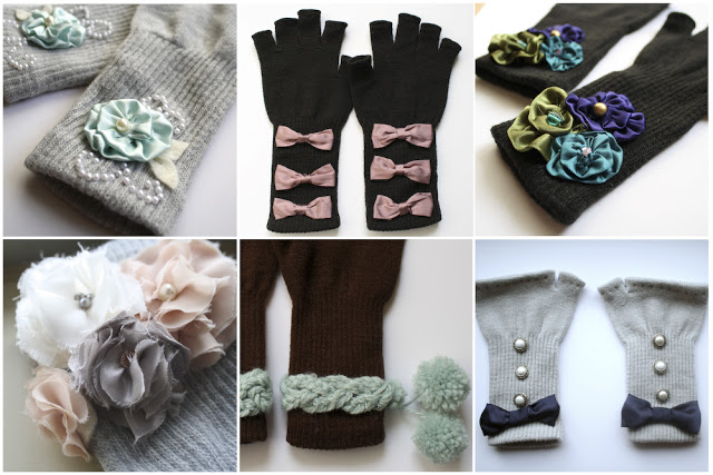 Embellishing Gloves That Is A Girl And A Glue Gun