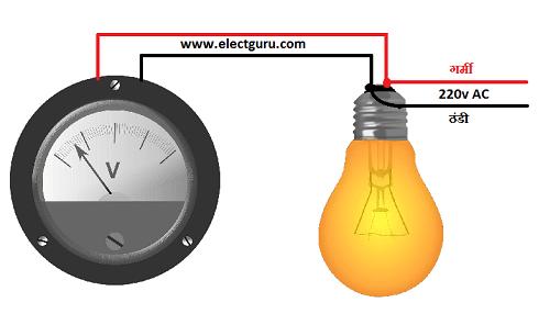 Analog voltmeter circuit diagram