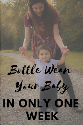 Bottle Wean Your Baby In Only One Week- Transitioning your baby from bottle to cup in only one week is not an impossible feat. Follow my bottle weaning method for an easy way to switch bottle to cup quickly.