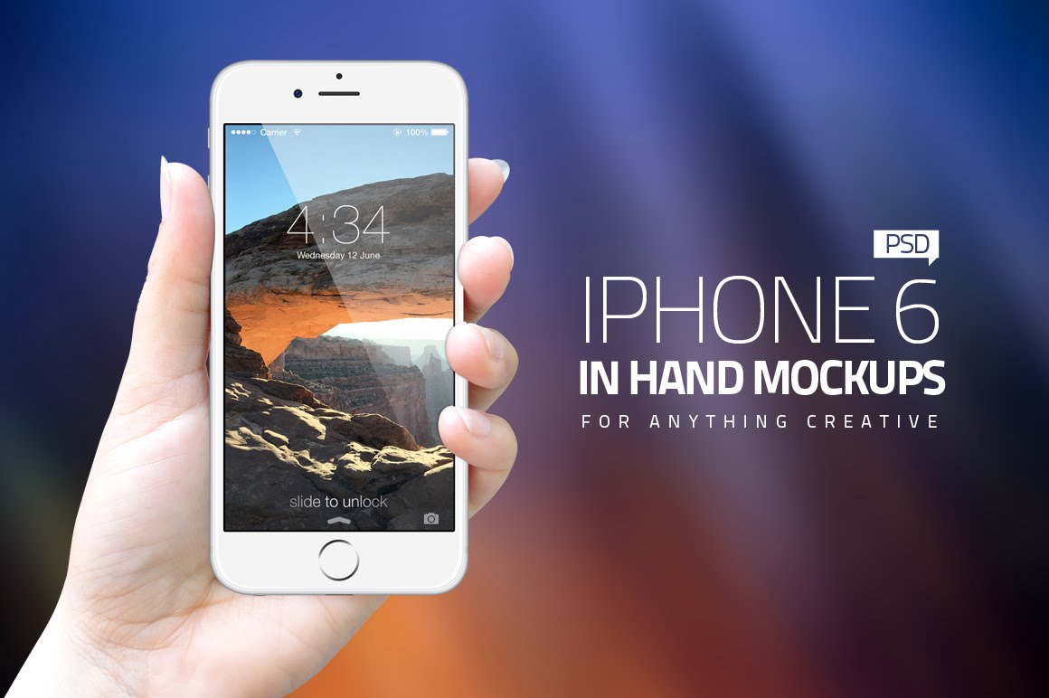 iPhone 6 in Hands Mockups