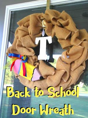 school door wreath