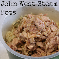 John West Steam Pots - infused tuna and cous cous - just add water to the cous cous, stir in the tuna and you have a quick, easy and filling lunch! Read on for my review of these handy lunch or dinner options!