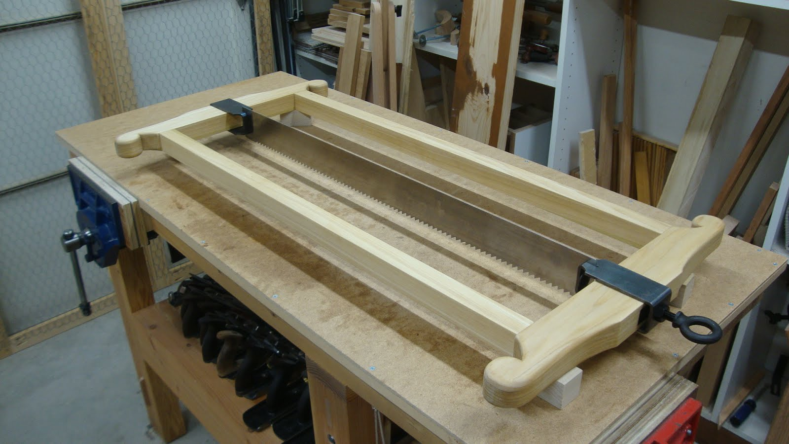 Woodworking In A Tiny Shop The Roubo Frame Saw Part 2