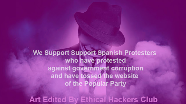 Anonymous Supports Spain Protesters