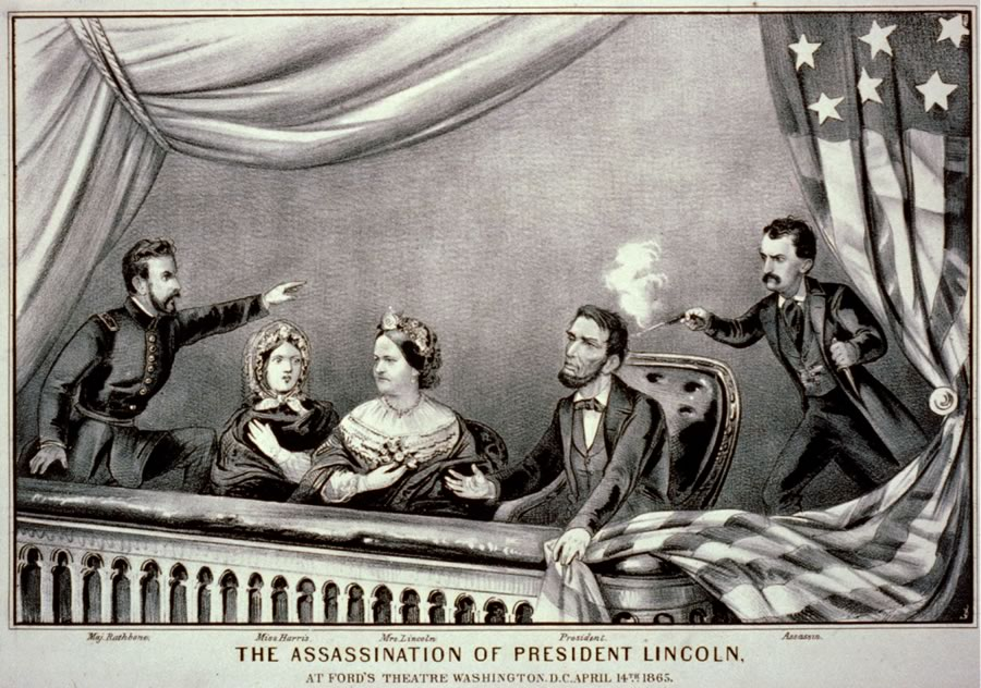 The assassination of Abraham Lincoln on Good Fri  Assassination of Abraham Lincoln