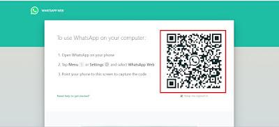 kode Whatsapp web di laptop
