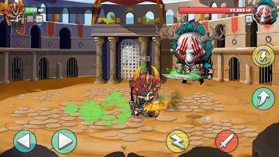 لعبة Tiny Gladiators مهكرة للأندرويد، لعبة Tiny Gladiators كاملة للأندرويد