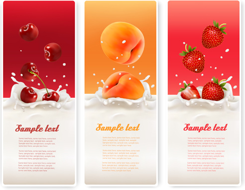 Summer drinks advertising banner vector Free vector
