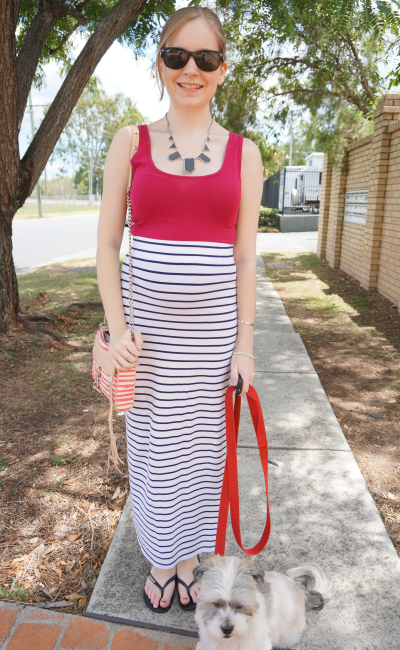 Sunday Shopping Outfit Queensland summer maxi skirt singlet RM mini MAC