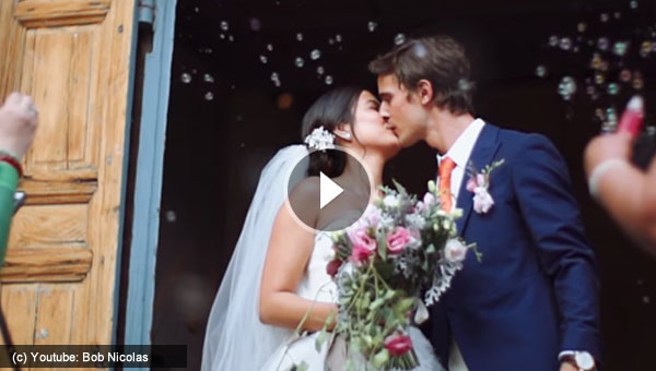 Watch: Isabelle Daza and Adrien Semblat's Wedding Video