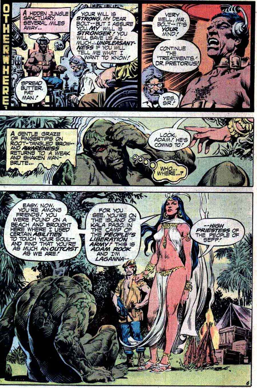 Swamp Thing v1 #16 1970s bronze age dc comic book page art by Nestor Redondo