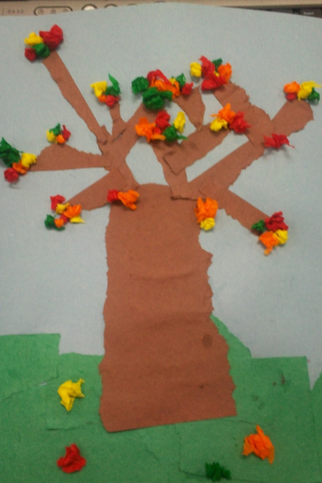 Art With Mr E Textured Fall Trees 1st Grade