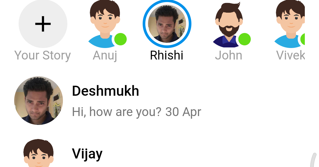 Flutter - Facebook messenger UI