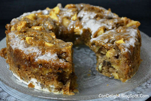 עוגת תפוחים קוקוס Grandgirl's fresh apple cake