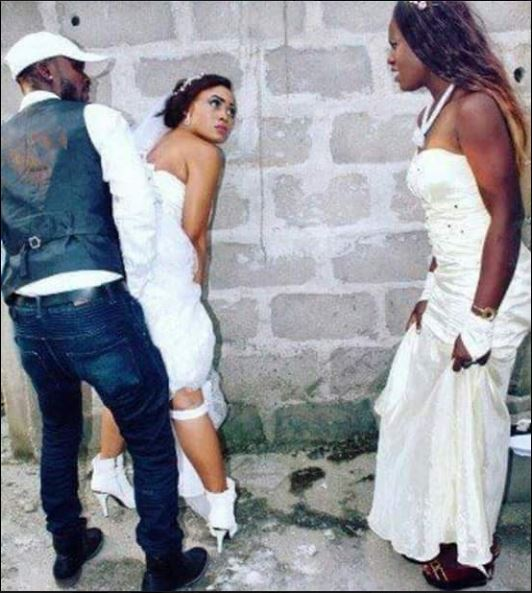 SHOCKER: Bride Caught Having 'S*x' with Ex Boyfriend on Wedding Day in an Uncompleted Building ( See Photo)