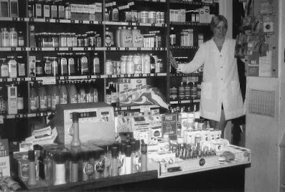 Valerie Holland at Brigg's Boot's The Chemist shop in the 1970s - see Nigel Fisher's Brigg Blog