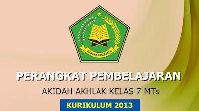 Download Perangkat Pembelajaran Akidah Akhlak MTs Kelas 7 Kurikulum 2013