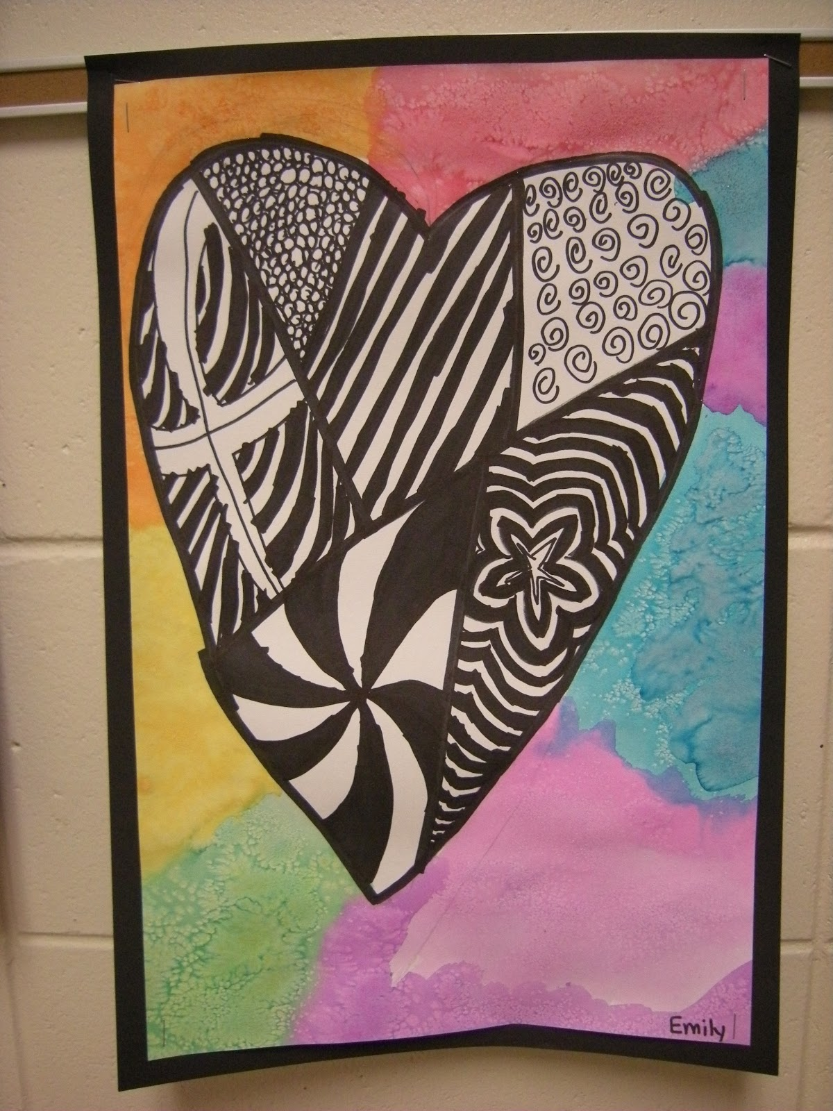 Anniversary Card | Doodle art, Heart doodle, Doodle art ... |Zentangle Heart Graphics