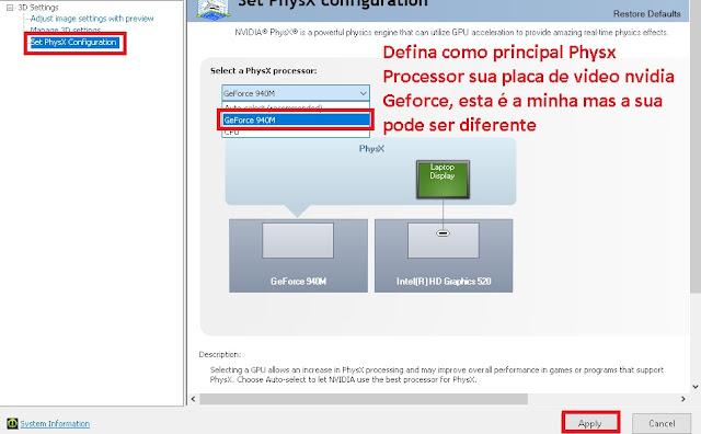 Configurar Painel de Controle Nvidia e Geforce Experience