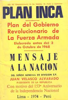 Plan Inca - Juan Velasco Alvarado