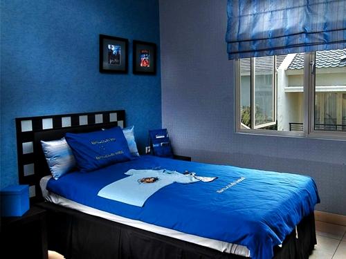 Bilik Tidur Warna  Biru  Laut Desainrumahid com