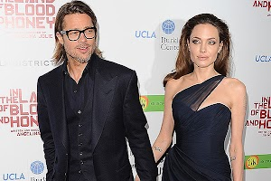 Angelina Jolie supports Brad Pitt at the premiere in London
