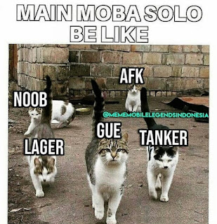 Meme lucu player Moba solo