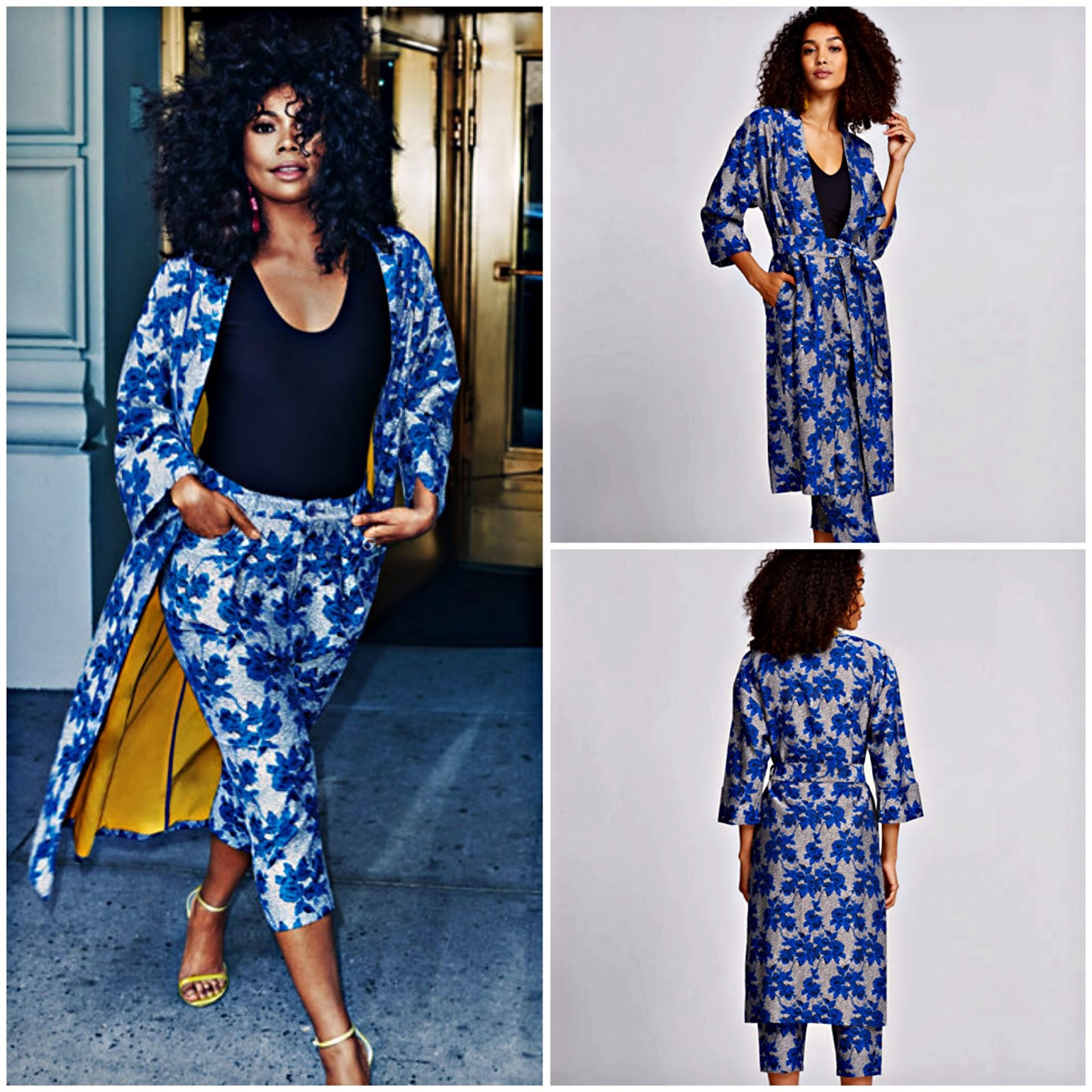 Click here to buy her LONG FLORAL KIMONO which is on sale!
