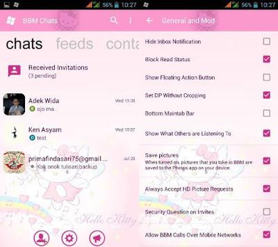 BBM Mod WP Hello Kitty v3.0.0.18 Apk Terbaru