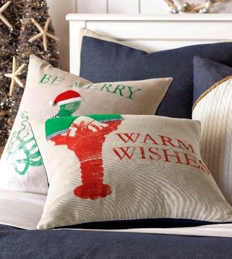 Coastal Amp Nautical Christmas Pillows 2014 Completely Coastal