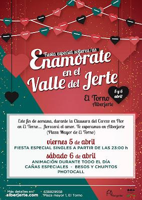 Fiesta especial solteros/as en el Cerezo en Flor. 5 y 6 de abril