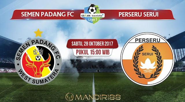 Prediksi Bola : Semen Padang Vs Perseru Serui , Sabtu 28 Oktober 2017 Pukul 15.00 WIB