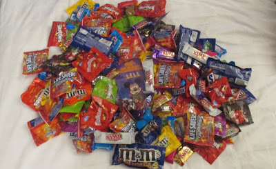 sweets from our trick or treating