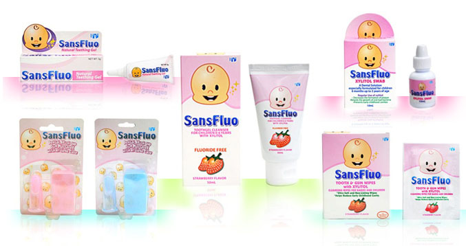 what are the other products of sansfluo that can help us in keeping our babyu0027s good oral hygiene