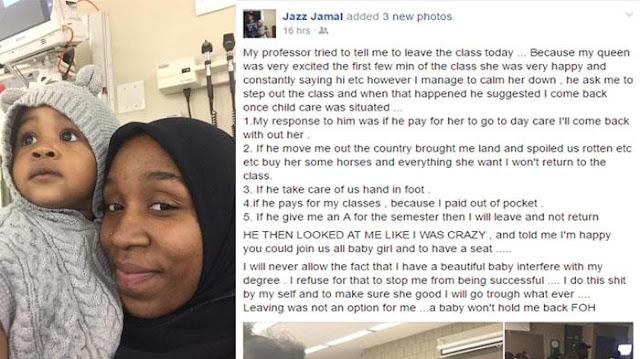 Diusir Karena Membawa Anak, Jawaban Mahasiswi Muslimah Ini Membuat Sang Dosen Terdiam