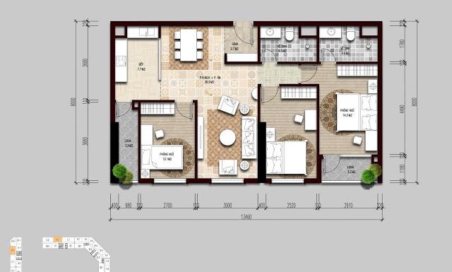 Thiết kế điển hình căn hộ The Emerald