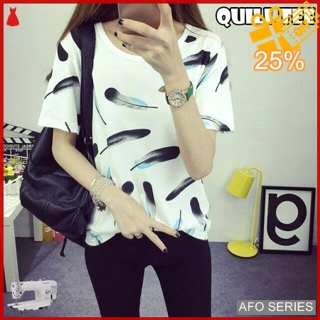 AFO054 Model Fashion Quill Tee Modis Murah BMGShop