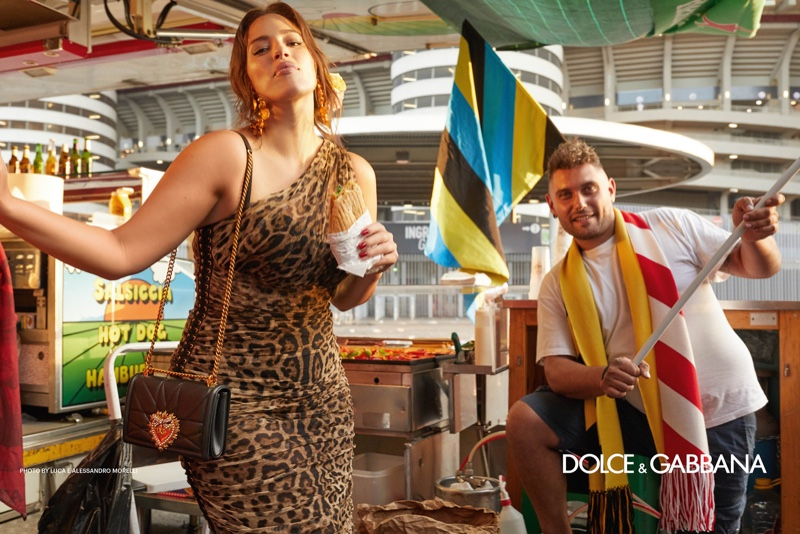 Ashley Graham wears leopard print in Dolce & Gabbana spring-summer 2019 campaign